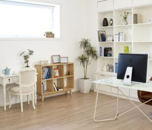 storage spaces small office shelves organizing decluttering productivity